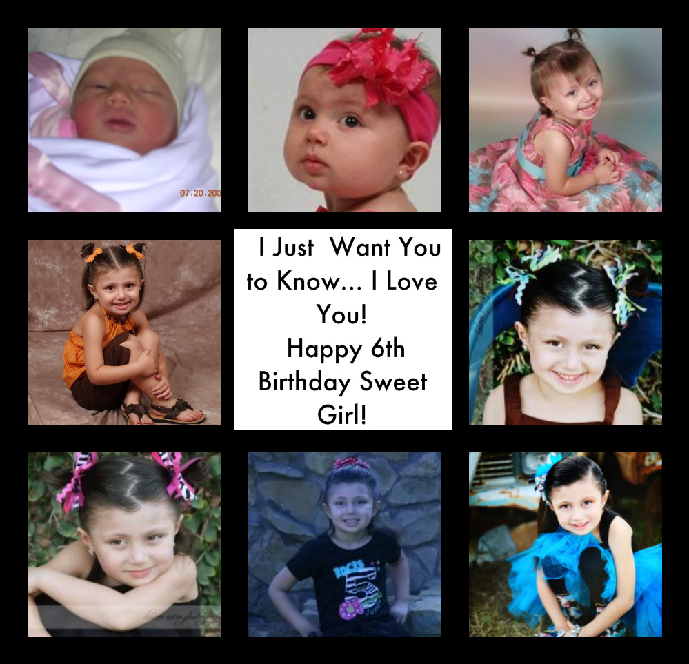 I Just Want You to Know {A Message to My Daughter on her 6th